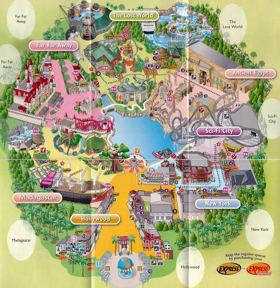 Карта Парка Universal Studio