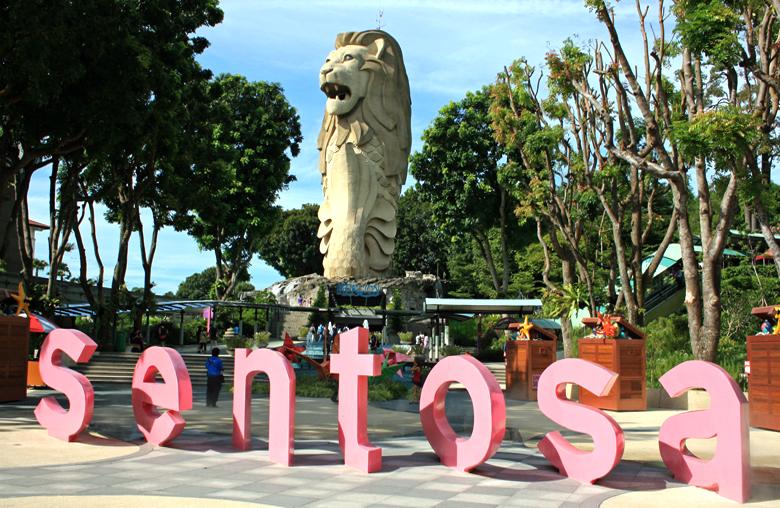 Остров Сентоза и статуя Мерлайона