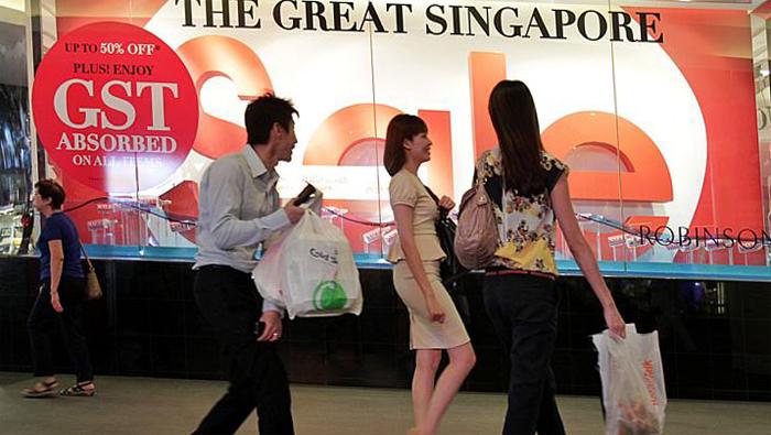 Распродажи в Сингапуре.