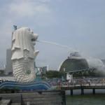 Статуя Мерлайона в центре