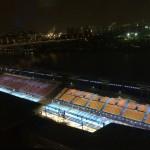 Вид на плавучий стадион-трансформер