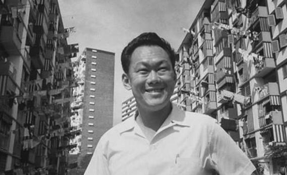Ли Куан Ю в молодые годы